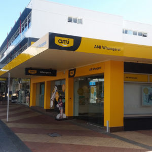 AMI Building signs in Whangarei