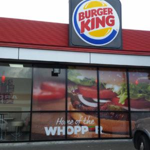 Burger King Whangarei window wraps