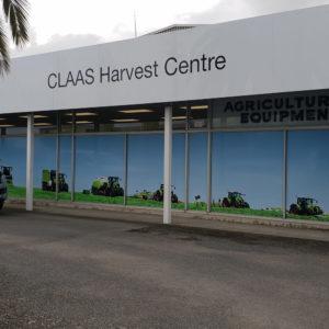 CLAAS window photo signs