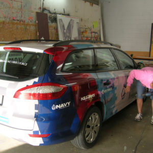 Finished car wrap rear view