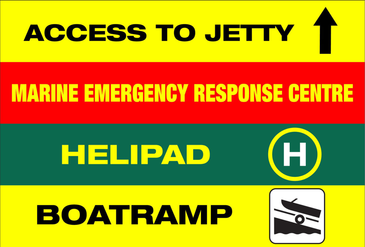 Example ofh ealth and Safety sign from D&D signs in Whangarei