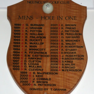 Trophy board for golf clubs