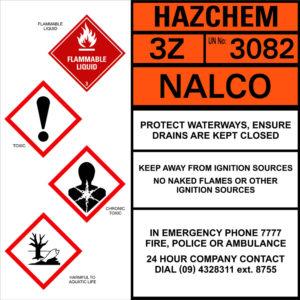 Hazchem Nalco sign