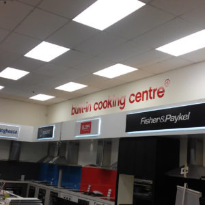 Retail signage for electrical goods