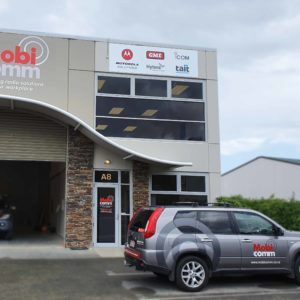 Mobi Comm vehicle and building signage