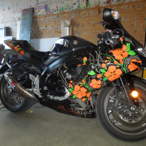 Wrap on motorcycle siding