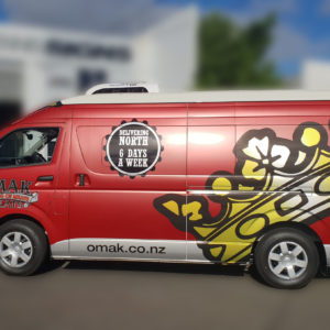 OMAK Butchers full van wrap left side