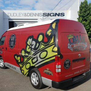 OMAK Butchers full van wrap right side