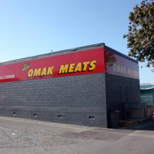 Omak Meats building signage