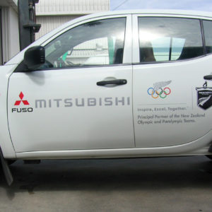 Mitsubishi ute sign writing