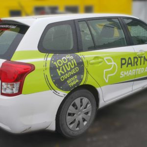 Partmaster partial vehicle wrap