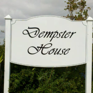 Demster house sign