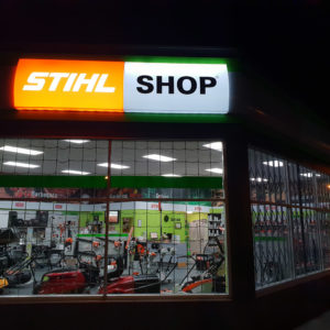 Stihl Shop illuminated signs in Whangarei