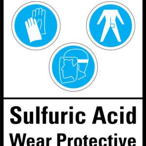 Sulphuric Acid warning sign