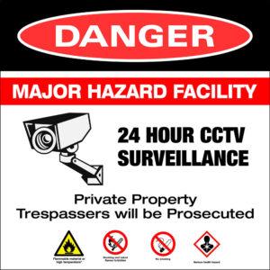 Surveillance CCTV sign