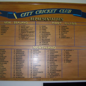 Trophy sign writing for cricket club