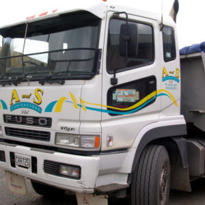 Simple sign writing for trucks