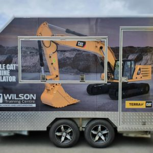 Trailer signwriting for Wilsons Earthmoving