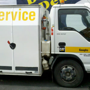 Simple sign writing on truck