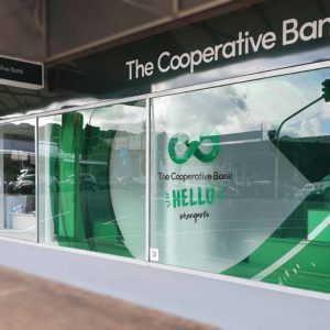 COop bank window signs Whangarei