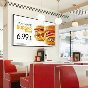 digital sign in fast food outlet