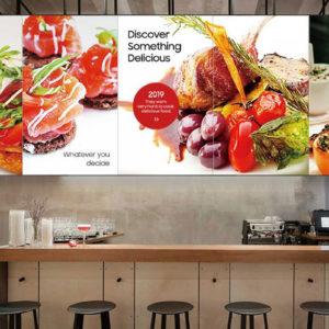 screens over restaurant kitchen