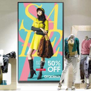 Fashion retailer digital sign