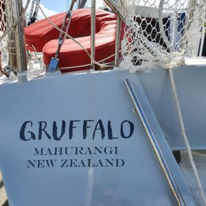 Sign Writing on Gruffalo Yacht