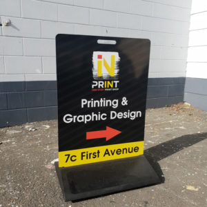 Pavement signs for Whangarei streets