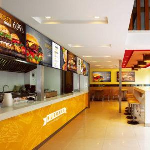 food hall menus on digital screens