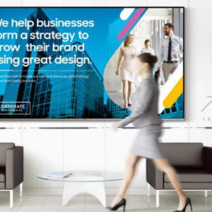 promo screen in office