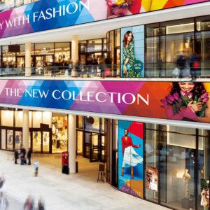 shopping mall digital screens